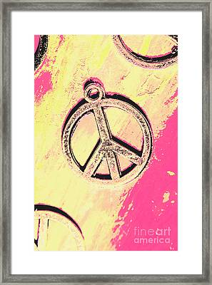 Pop Art In Peace Framed Print