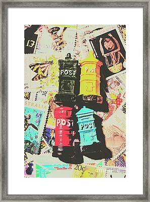 Pop Art In Post Framed Print