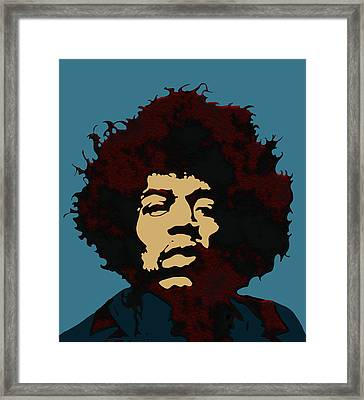 Pop Art Jimi Hendrix Framed Print