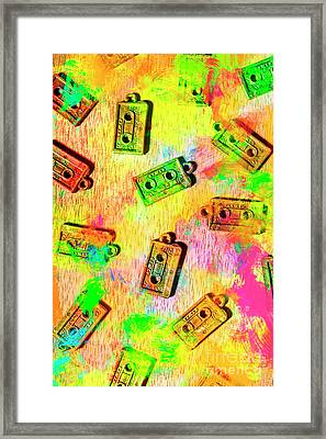 Pop Art Mix Tapes Framed Print