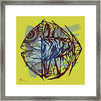 Pop Art - New Tropical Fish Poster Framed Print by Kim Wang