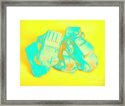 Pop Art Pileup Framed Print