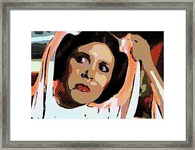 Pop Art Princess Leia Organa Framed Print