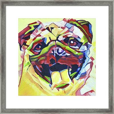 Pop Art Pug Framed Print