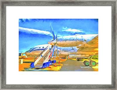 Pop Art Russian Airliner Framed Print