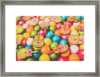 Pop Art Sweets Framed Print