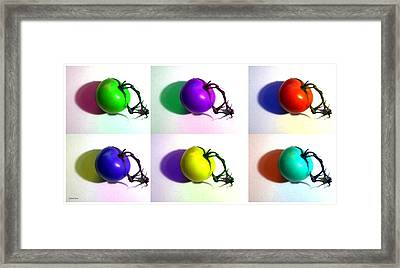 Framed Print featuring the photograph Pop-art Tomatoes by Shawna Rowe