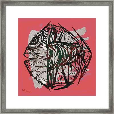 Pop Art - Tropical Fish Poster Framed Print