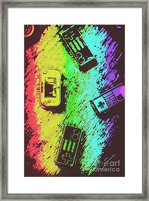 Pop Art Video Games Framed Print