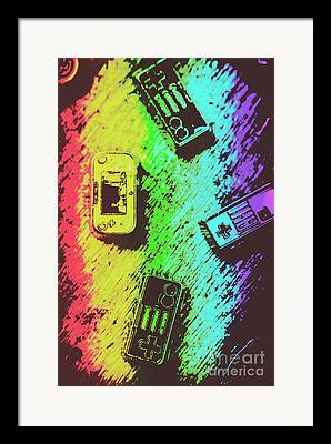 Joystick Framed Prints