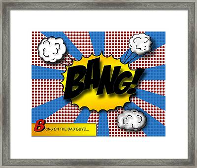 Pop Bang Framed Print
