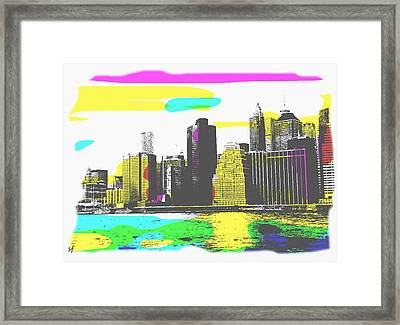 Pop City Skyline Framed Print