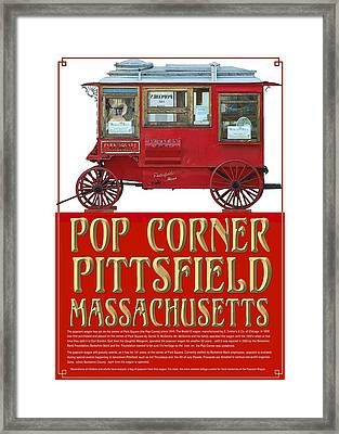 Pop Corner With History Framed Print