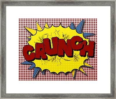 Pop Crunch Framed Print