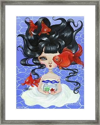 Pop-eyed Goldfish Framed Print