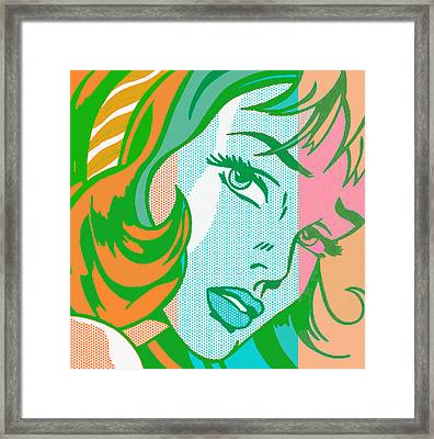 Pop Girl Framed Print