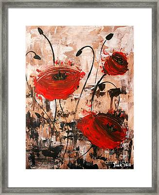 Pop Goes The Poppies Framed Print