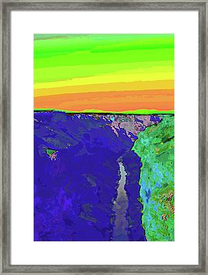 Pop Gorge Framed Print by Charles Muhle