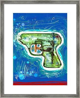 Pop Pistol Framed Print