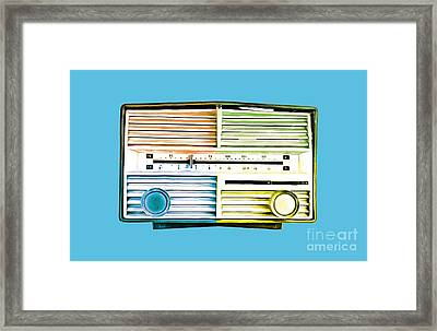 Pop Radio Tee Framed Print