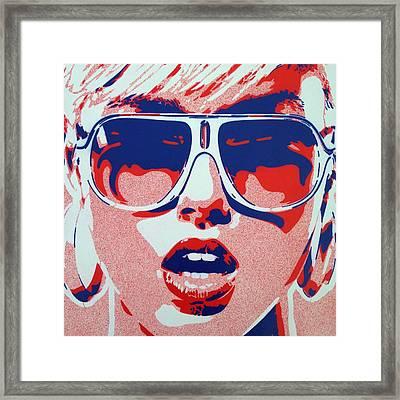 Pop Star 3 Framed Print by Leon Keay