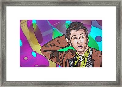 Pop Who Framed Print by Sarah Crumpler