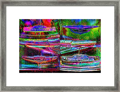 Pop Art Chevrolet Framed Print by Mike McGlothlen
