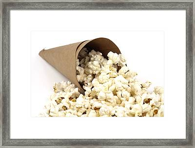 Popcorn In Paper Cone Framed Print by Blink Images