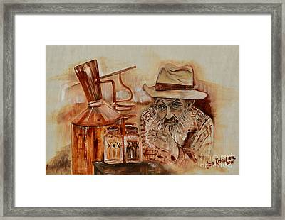 Popcorn Sutton - Waiting On Shine Framed Print