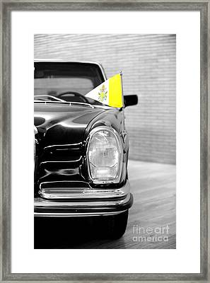 Pope Car In Vatican City Framed Print by Stefano Senise
