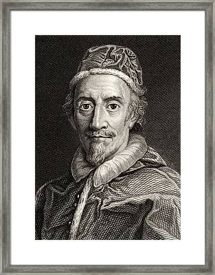 Pope Clemente Ix, 1600-1669 Pope Framed Print by Vintage Design Pics