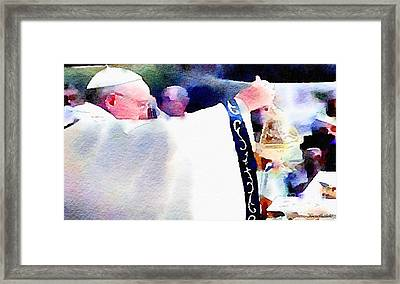 Pope Francis Mass Framed Print by Denise Haddock