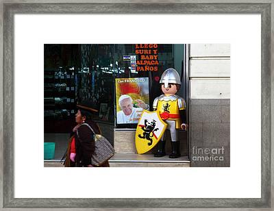 Pope Francis Visits Bolivia Framed Print by James Brunker