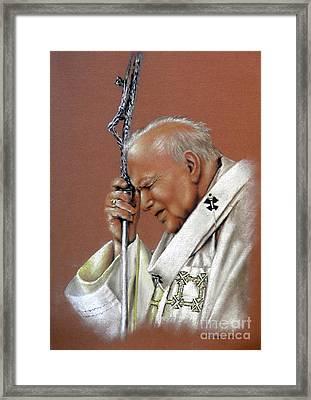 Pope John Paul. 2nd. Framed Print