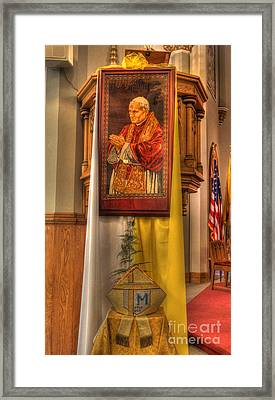 Pope John Paul Mitre Religious Relic       -       Headgear Use By John Paul II Framed Print by Lee Dos Santos