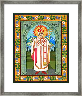 Pope John Xxiii Icon Framed Print by David Raber