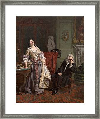Pope Makes Love To Lady Mary Wortley Montagu Framed Print
