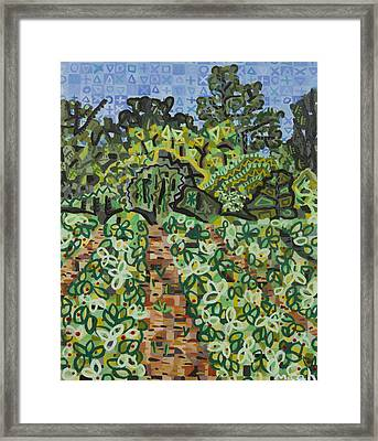 Pope Strawberry Fields Framed Print by Micah Mullen
