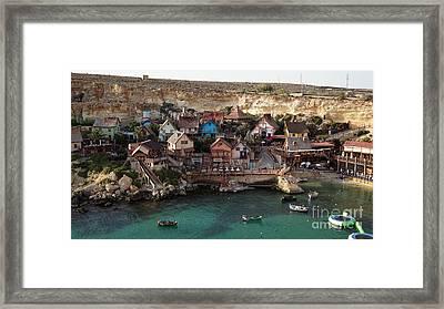 Popeye Village Malta Framed Print by Kira Yan