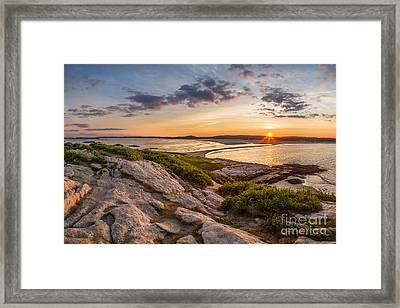 Popham Beach From Fox Island Framed Print