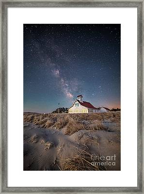 Popham Beach Life Saving Station Framed Print by Benjamin Williamson