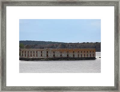 Popham Fort Framed Print by Judy Bernier