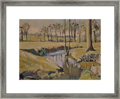 Poplars And Mistletoe Along The River Geul Cottessen Framed Print