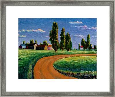 Poplars Framed Print by Ushangi Kumelashvili