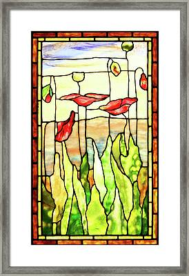 Framed Print featuring the photograph Poppies 1 by Kristin Elmquist