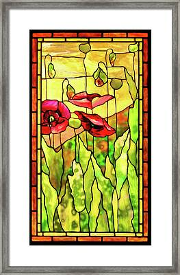Framed Print featuring the photograph Poppies 2 by Kristin Elmquist