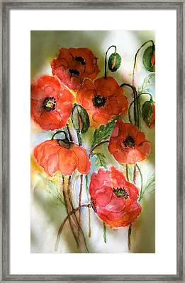 Poppies, 2017 Framed Print by Hedwig Pen