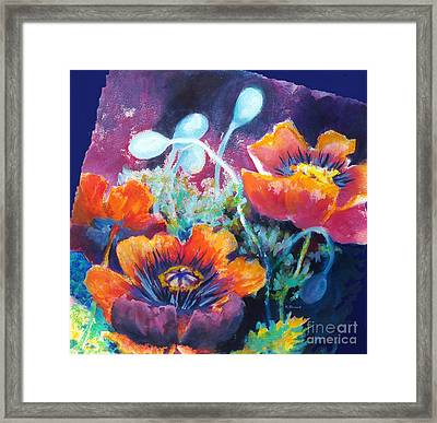 Poppies 2.2 Framed Print by Kathy Braud