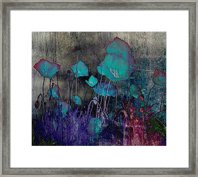 Poppies Abstract Framed Print