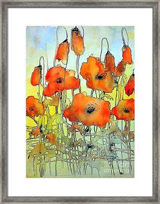 Poppies Abstraction Framed Print
